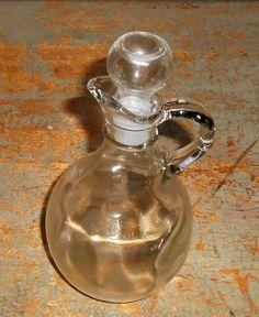 Vintage Decanter, Oil and Vinegar, Cruet, Bottle, Salad Dressing, Clear Glass, Glass Bottle, Dispenser, Vinegar, Decanter by TheBackShak on Etsy