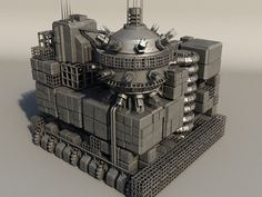 Sci Fi Box Building 5 by teddpermana model of sci fi box building with unique detailed and random box position, perfect for populating sci fi cityscape. easy to textur 3d Building Models, Box Building, Warhammer Imperial Guard, Futuristic Architecture, Building Architecture, Sci Fi City, Low Poly Models, Dark Fantasy Art, City Buildings