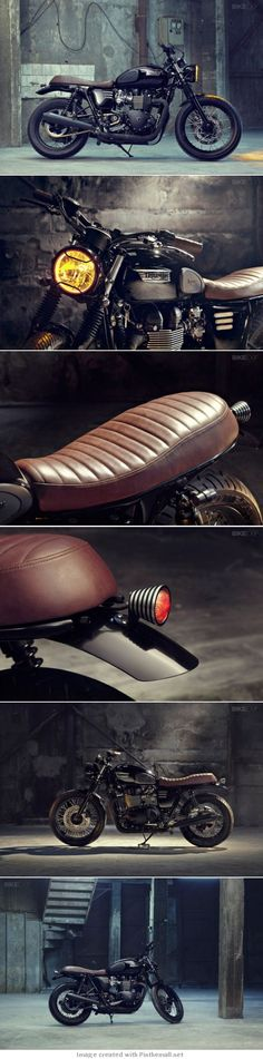 TRIUMPH BONNEVILLE T100 BY BUNKER - created via pinthemall.net