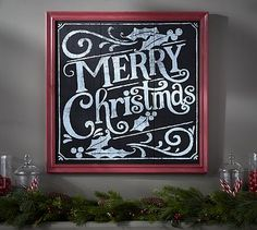 Shop merry christmas sign from Pottery Barn. Our furniture, home decor and accessories collections feature merry christmas sign in quality materials and classic styles. Christmas Chalkboard Art, Merry Christmas Sign, Christmas Love, Beautiful Christmas, Winter Christmas, Vintage Christmas, Christmas Crafts, Christmas Decorations, Christmas Ideas