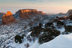Unlike most of Colorado, Grand Junction's winters are mild and include minimal snow fall. The geographic location of Grand Junction, west of the Rockies, allows residents to enjoy all four seasons without extreme temperature fluctuations.