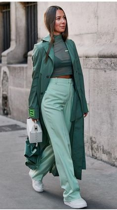 37 Classy And Elegant Summer Outfits – Page 4 of 4 37 Noble und elegante Sommeroutfits – Seite 4 von 4 – Stylish Bunny Mode Outfits, Casual Outfits, Summer Outfits, Fashion Outfits, Green Outfits For Women, Ladies Fashion, Fasion, Fashion Clothes, Womens Fashion