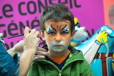 Atelier maquillage pour les petits au village du CG67 à la Foire européenne ©Denis Guichot/CG67