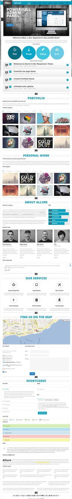 Creative one page premium portfolio and business WP Theme
