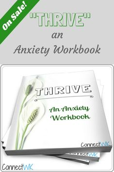 """""""THRIVE"""" is a fun way to identify your anxiety triggers, and find patterns that are causing you to feel so anxious. If you need help finding ways to build new habits and overcome anxiety, """"THRIVE"""" is the perfect workbook for you! I'm currently offering a Anxiety Causes, Anxiety Tips, Anxiety Help, Stress And Anxiety, Light Therapy Depression, Natural Anxiety Relief, Ways To Manage Stress, Mental Health Treatment, Stress Relief Tips"""