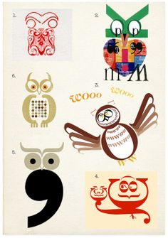 typography and owls - two of my favorite things.