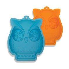DCI Shape and Bake Owl Cake Mold OrangeBlue -- Continue to the product at the image link. (This is an affiliate link) Owl Themed Parties, Mustard Yellow Walls, Owl Kitchen, Felt Owls, Owl Bird, Cute Owl, Cake Mold, Party Time, Shapes