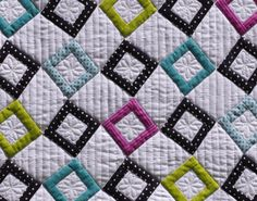 diamond quilts | struggled with the quilting on this one originally i