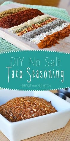 No Salt Taco Seasoning – No Salt Taco Seasoning Related posts: Salt FREE Taco Seasoning – Home Made Salt Free Taco Seasoning Salt and sodium free taco seasoning 21 Day Fix Salt Free Taco Seasoning – Confessions of a Fit Foodie Homemade Dry Mixes, Homemade Spices, Homemade Seasonings, Homemade Tacos, Taco Seasoning Easy, Salt Free Seasoning, No Sodium Taco Seasoning Recipe, Seasoning Mixes, Low Sodium Bbq Sauce Recipe