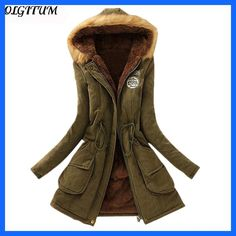 2018 New Parkas Female Women Winter Coat Thickening Cotton Winter Jacket Womens Outwear Parkas for Casual Women Winter Ladies Hooded Coats, Coats For Women, Clothes For Women, Anorak, Fur Collar Coat, Long Parka, Winter Parka, Womens Parka, Winter Jackets Women