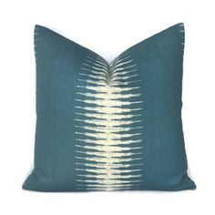 Peter Dunham Ikat Pillow Cover in Peacock Decorative Throw Pillow Sofa... ($70) via Polyvore featuring decorative pillows, grey, home & living and home décor