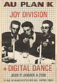 Joy Division (Ian Curtis) au Plan K (Bruxelles) le Ian Curtis, Rock Posters, Band Posters, Music Posters, Retro Posters, Joy Division, New Wave, Manchester, Punk Poster