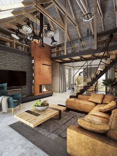 interior projects are always impressive and inspiring! Enjoy in this large house by Razoo Archit .Your interior projects are always impressive and inspiring! Enjoy in this large house by Razoo Archit . Industrial Interior Design, Industrial Interiors, Industrial House, Home Interior Design, Vintage Industrial Decor, Room Interior, Industrial Style, Loft Design, Modern House Design