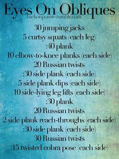 bodyweight oblique workout!