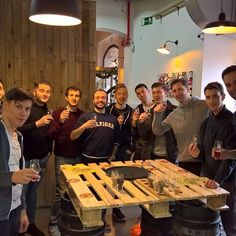 Awesome stagg party group from England. These guys were energetic and fun. This was the first time Blacklight IPA was served for a tasting as it is in small quantity. Bourbon barrel aged IPA gets tapped in 2 weeks. Cant wait. Cheers! #barcelonabeer #spainbeer #barcelonabeertours #barcelonacraftbeers #lovebeer  #beertours #barcelonatours