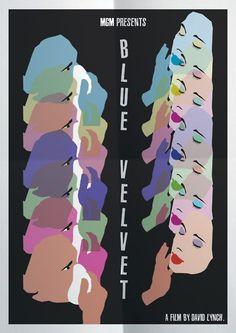 Minimal Movie poster for Blue Velvet