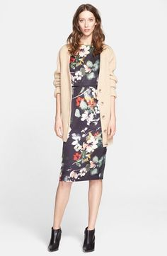 Nordstrom Signature and Caroline Issa Cardigan & Dress available at #Nordstrom