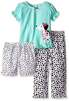 74803431d7 online shopping for Little Me Girls  3 Piece Polyester Pajamas from top  store. See new offer for Little Me Girls  3 Piece Polyester Pajamas