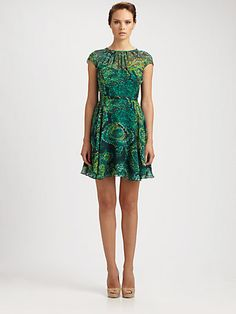 Shoshanna - Silk Heidi Northern Lights Dress - Saks.com