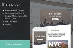 New York Agency + StampReady Builder by StampReady Templates on @creativemarket
