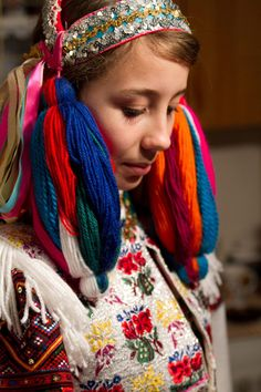 Bride from Polomka, Horehronie Baroque Fashion, Ethnic Fashion, Costumes Around The World, Culture Clothing, Tribal Dress, Folk Costume, Central Asia, People Around The World, Traditional Dresses