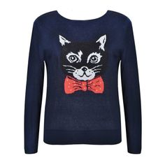 BOW TIE CAT KNIT TOP Knit Cardigan, Graphic Sweatshirt, Bows, Knitting, Sweatshirts, Sweaters, Tie, Fashion, Arches