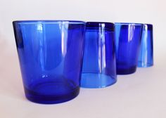 Cobalt Blue Drinking Glasses by Libbey by TheSerendipityTrunk on Etsy https://www.etsy.com/listing/484704095/cobalt-blue-drinking-glasses-by-libbey