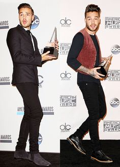 Liam in the press room at the AMAs 2014 - 2015