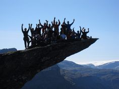 Trolltunga, Hardangerfjord, Norway. Students from Framnes by OpplevOdda, via Flickr
