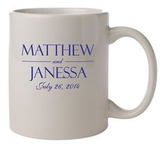 72 Ceramic Coffee Mugs PERSONALIZED Wedding Favors by Factory21, $206.64