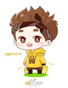Dyopika Logo Kaisoo Kyungsoo Exo Fan Art Do Cute Chibi