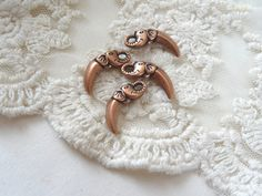 Elephant Spike Charms Copper Bohemian Spike Animal Face by BuyDiy