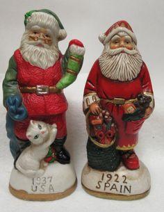 Vintage Collection of 8 Around World Santa Claus Figurines | Etsy