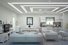 The Five Elements of a Perfect In-Ceiling Screen Installation - False Ceiling Ideas - Gypsum Ceiling Design, House Ceiling Design, Ceiling Design Living Room, Bedroom False Ceiling Design, False Ceiling Living Room, Ceiling Light Design, Home Ceiling, Home Room Design, Ceiling Decor