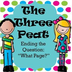 """Mastering the Middle: Ending the Question """"What Page? Whole Brain Teaching, Classroom Management, Student, Middle"""