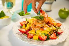 Summer Seafood & Fruit Salad Recipe