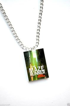 The Maze Runner  Mini Book Necklace  Book Charm Book Jewelry James Dashner #MazeRunnerMovie #Charm