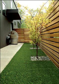 Patio Inspiration - Green Grass & Stones, Spacious.