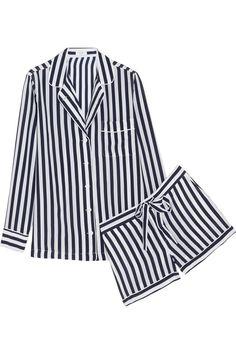 Equipment|Lilian striped washed-silk pajama set|NET-A-PORTER.COM
