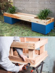 Buildergibbs recent projects classroom bench planter box if you have a green thumb and want to show it off build an attractive planter bench for your backyard use our step by step guide with pictures workwithnaturefo