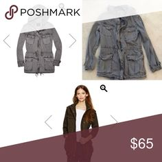 Aritzia Talula Trooper Utility Jacket in Gray Price firm on posh. aritzia anorak / urban jacket. This is for the gray color. Actual jacket is in the collage in last pic. Aritzia Jackets & Coats