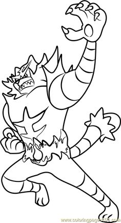 Incineroar Pokemon Sun And Moon Coloring Page