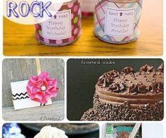 birthday ideas collage