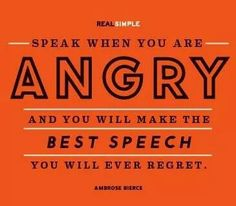 Best regretted speech ever! I've practiced many in my head. Leave them there.