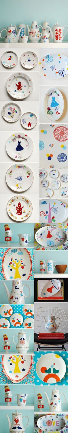 Beautiful hand painted pottery