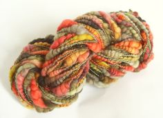 He's a Pirate - Handspun yarn bulky with coils