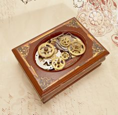 Steampunk Jewelry Box by MelsMakeBelieve on Etsy, $46.00