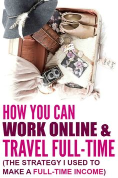 How she was able to work online and travel full time is THE BEST! I'm so happy I found these GREAT tips! Now I can show other people this strategy to start working from home.. or anywhere! Definitely pinning for later!