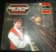 "Honky Von Tonk and his friends 1967 12"" vinyl LP Hearts Designs 1"