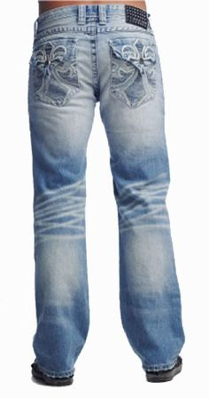 Affliction Men Jeans Blake Flood Fleur Flap in Copenhagen Wash | Len's apparel $155.00